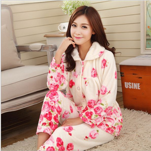 Aliexpress.com : Buy New Autumn/winter flannel pajamas thickening ...