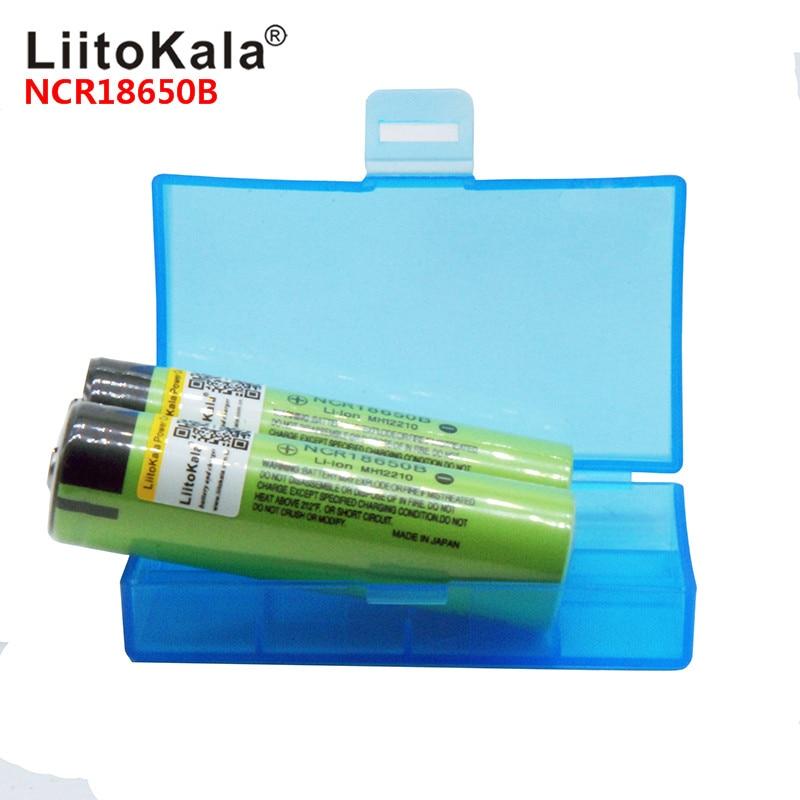 2019 LiitoKala 100% NCR18650B 3.7V 3400 Mah 18650 3400mah Lithium Rechargeable Battery For Flashlight To Powr Bank