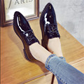 The New 2016 Vintage Coat Of Paint Single Women's Small Leather Shoes Pointed With Female Leather Shoes With Flat shoes