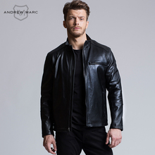 ANDREW MARC 2016 Leather Jacket for Man Genuine Sheepskin Gentleman Slim Figure Biker Jackets Coats S-XXL TM6A1560