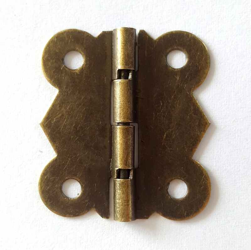 80pcs/lot 26*30mm 90 Degrees Bronze Color Antique Butterfly Hinge Flat Hinge for Wooden Box Case Packaging Accessories Diy 200pcs 18 15mm hinge brass bronze color flat wholesale small hardware for wooden box case cabinet drawer door funiture fix