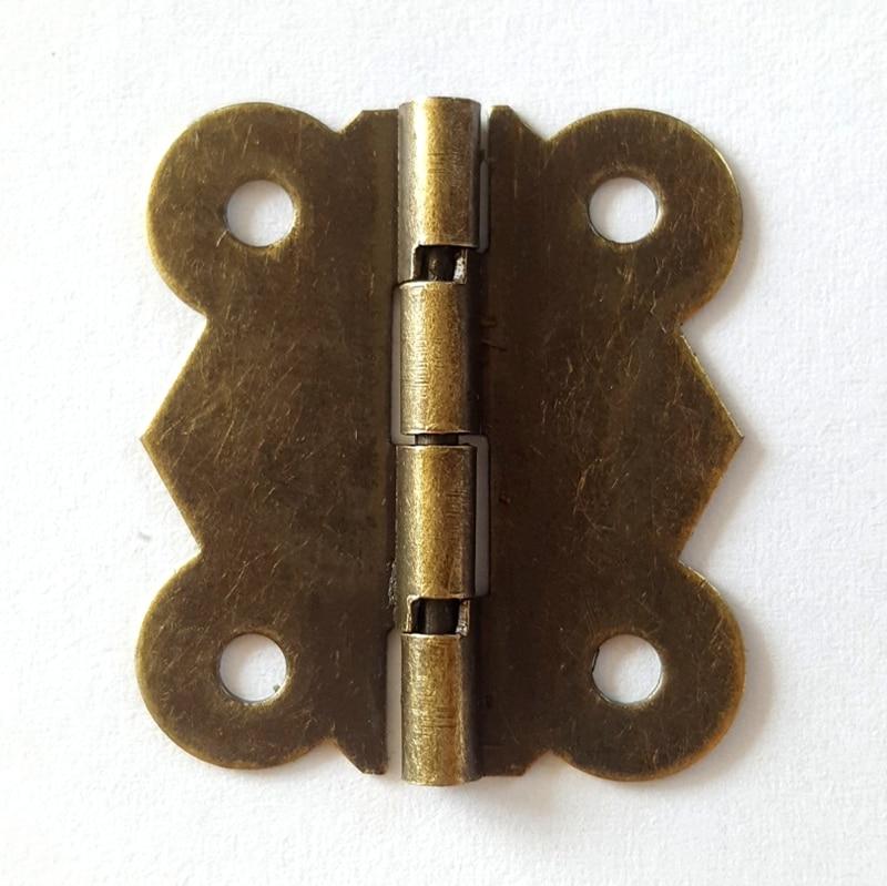 80pcs/lot 26*30mm 90 Degrees Bronze Color Antique Butterfly Hinge Flat Hinge for Wooden Box Case Packaging Accessories Diy lhx ayp159 4pcs lot antique bronze