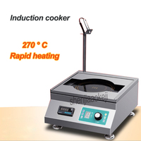 Commercial desktop Induction cooker Electromagnet teppanyaki timing constant temperature induction cooking machine 220v3500w 1pc
