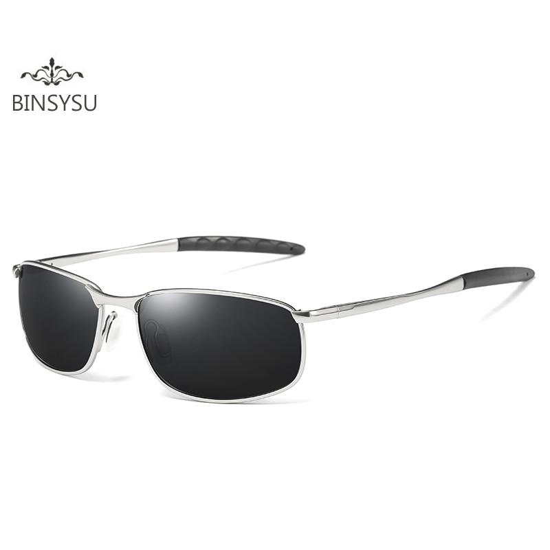 0fe06ccefd57b Pequeno Quadro Óculos Polarizados Homens Marca Designer de Retângulo Óculos  De Sol Dos Homens de Condução