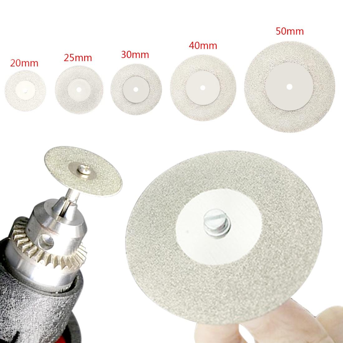 20-50mm Diamond Cutting Discs & Drill Bit  Mini Circular Saw For Rotary Tool Dremel Stone Blade