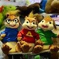 Envío libre toda la familia Alvin y las Ardillas ardilla de peluche de juguete de peluche de juguete 3 unids/set