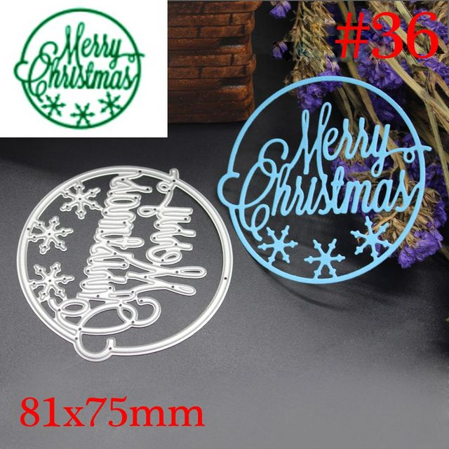 1 pcs Merry Christmas Cutting Dies Stencil DIY Scrapbooking Photo Album Decor Embossing Cards Making DIY Crafts Xmas
