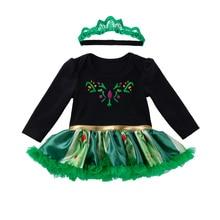 Print O-Neck Baby Girl Set Clothes For Newborn Girls Roupa Infantil Menina Green Black Bebek Giyim High Quality Outfits