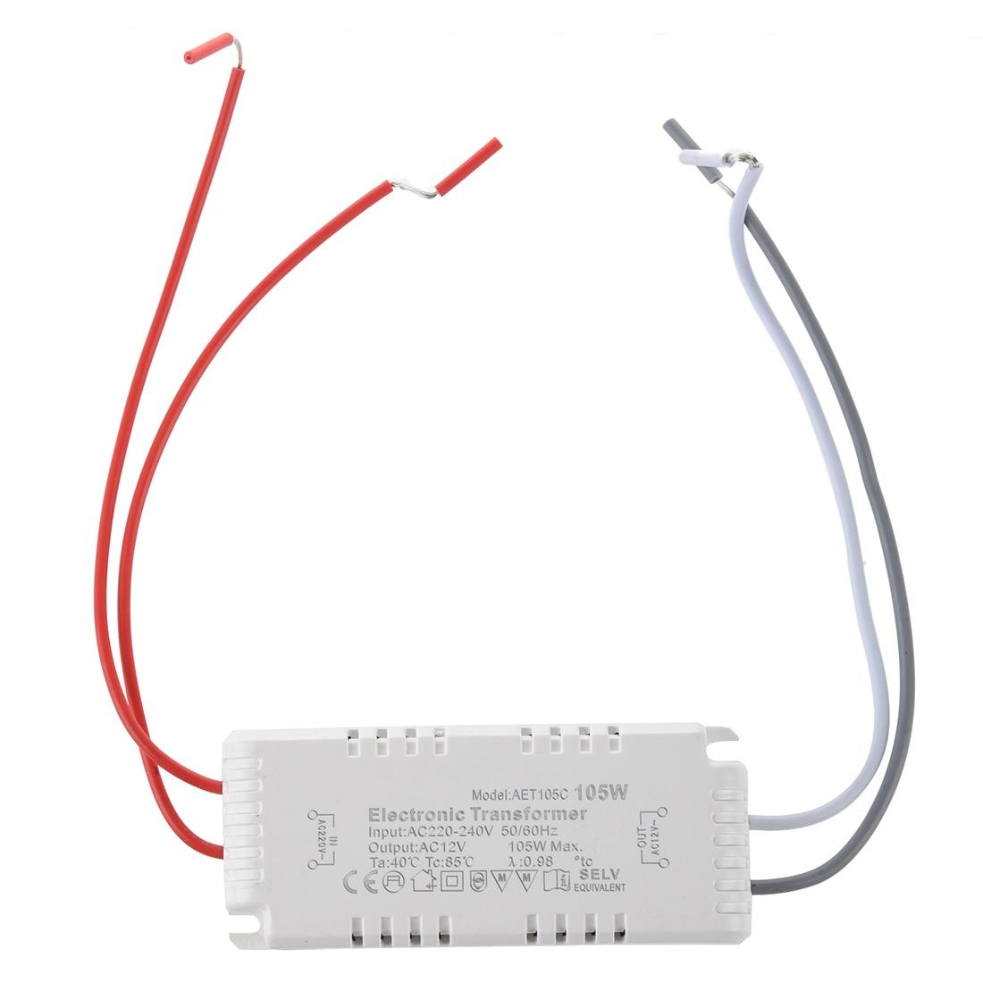 medium resolution of halogen light electronic transformer 105w 12v 220v 240v