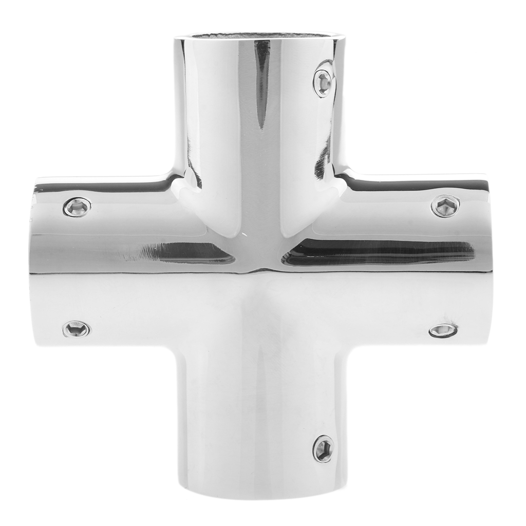 316 Grade Stainless Steel 1 25mm Boat Hand Rail Fitting 4 Way Cross Hardware