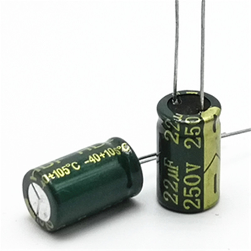 100pcs/lot 250v 22uf High Frequency Low Impedance 10*17 20% RADIAL Aluminum Electrolytic Capacitor 22000NF 20%
