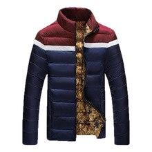 2016 новый случайный куртка мужчины зима воротник Тонкий модели куртка мужчины моды для мужчин зимнее пальто и куртки chaquetas хомбре