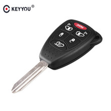 KEYYOU (5+1) 6 Buttons Remote Car Key Shell Cover FOB For CHRYSLER Town & Country Grand Caravan Sebring Dodge Jeep With Pad(China)