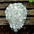 2016 Luxury Crystal Shinny Bridal Accessory Hand Holding Bouquet Drop Water Style Ramo Novia Bridesmaid Bouquet Crystal Bouquet