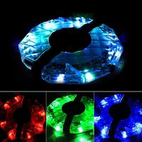 LumiParty USB Rechargeable Bike Wheel Hub Lights 3 Modes LED Colorful Bicycle Cycling Spoke Lights Safety