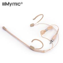 Profesyonel bej kulaklık kondenser mikrofon çok yönlü mikrofon Sennheiser kablosuz sistemi için 3.5mm vidalı kriko Mic