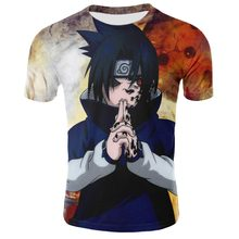 Naruto Sasuke Battle Printed Tee