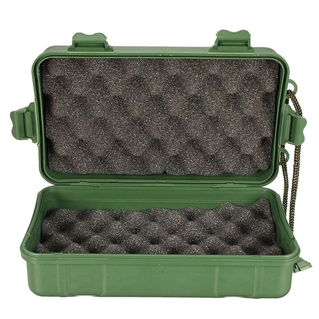 Storage-Box Case-Holder Torch Flashlight-Light Battery-Charger Plastic Black Waterproof