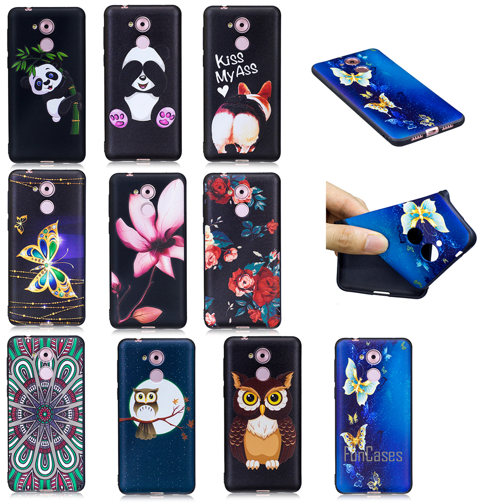 Top HD Relief Soft TPU Phone Case For Huawei Ascend P9 Lite P10 P8 Lite 2017 Ass Case For Huawei Enjoy 6S Y5 ii 2017 Honor 6C 6X