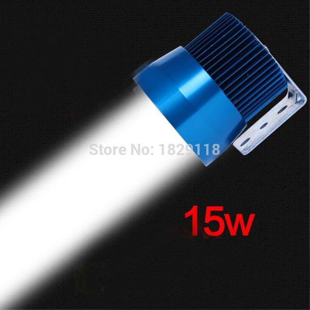 New 12V-80V 15W LED Laser Gun Day Light Motorcycle Headlight Motorcross Motorbike Waterproof Fog Spot Light Projector Lighting