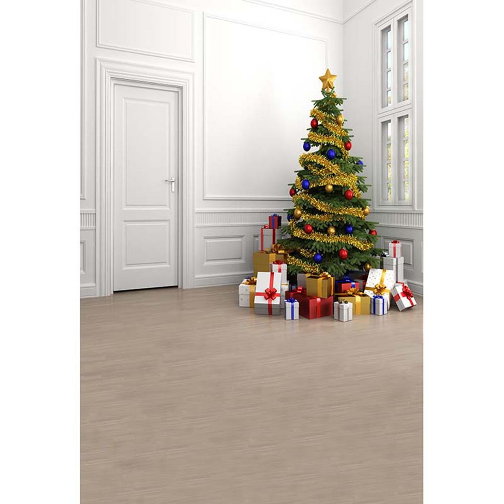 Indoor Christmas Party Background Printed Present Boxes Decorated ...