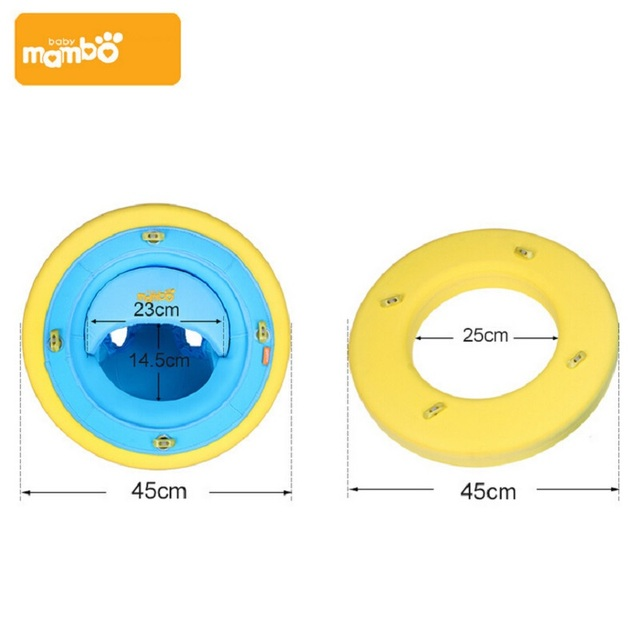 2 in 1 Solid swimtrainer baby infant ring float baby swim ring swimming pool  water float seat ring float