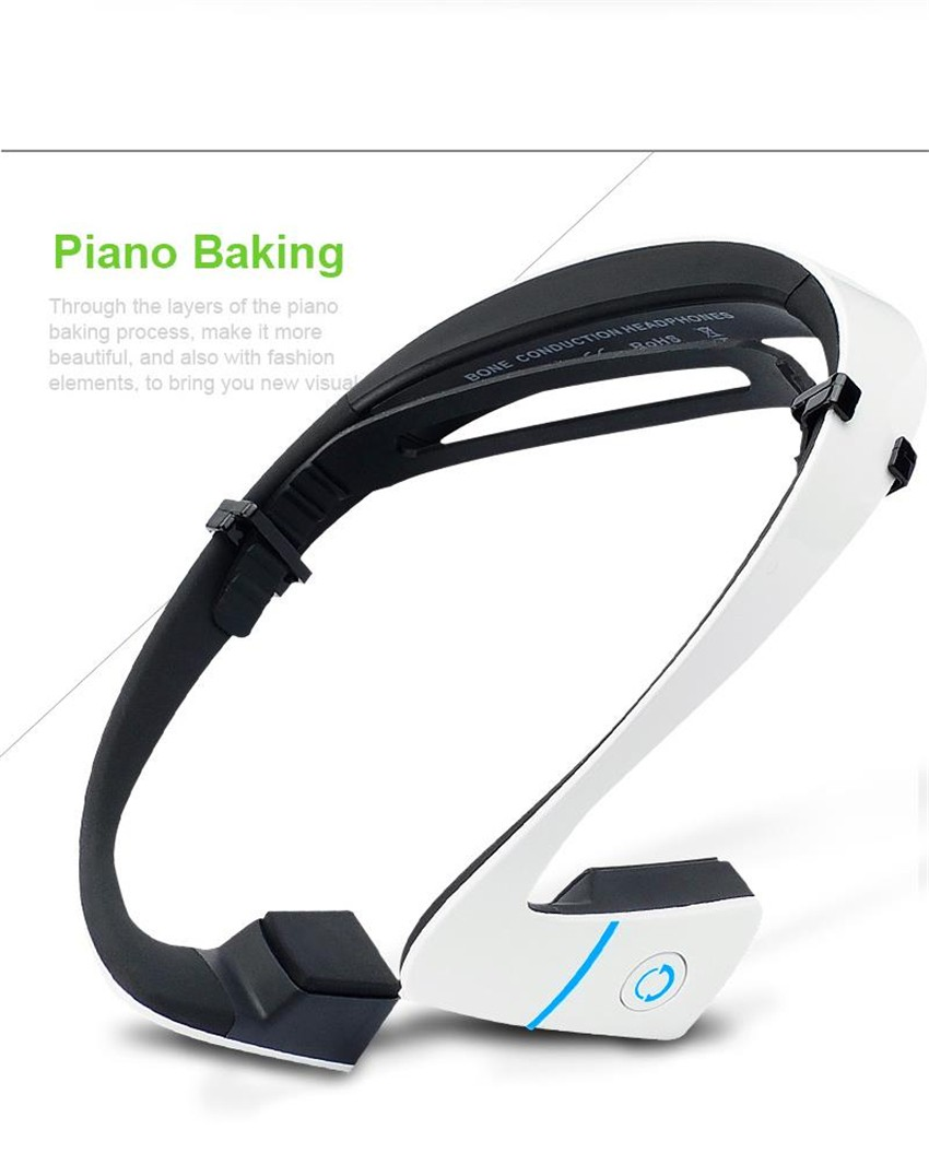 все цены на 24hours shipment! LF-18 Bluetooth Bone Conduction Speakers Wireless Stereo Headset Sports Headphone For Running black& white онлайн