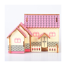 DIY Model toys 3D Wooden Puzzle- Purple cottage Wooden Kits Model Educational Puzzle Game Assembling Toys Gift for Kids Adult P5 цены онлайн