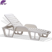 PURPLE LEAF Plastic Sun Lounger Beach Chair Portable Parasol Deckchair Leisure Solarium Couch Garden Chair Chaise Loung white