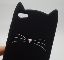 3D Soft Silicone Case for Vivo Smile Black Cat Ears Beard Rubber Cover Phone Cases