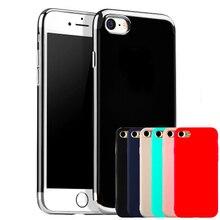 Для iPhone 7 Силиконовый Чехол Ультра Тонкий Цвета Конфеты Мягкие TPU Резиновая красочные Телефон Случаях Чехлы для iPhone 6 s 7 Plus SE 5S Капа