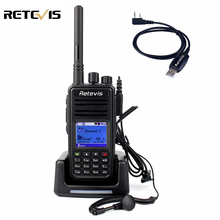 Radio dmr digital rt3 walkie talkie retevis uhf 400-480 mhz 5 w Hf Radioafición Transceptor 1000CH 2 antena + Cable de Programa A9110A