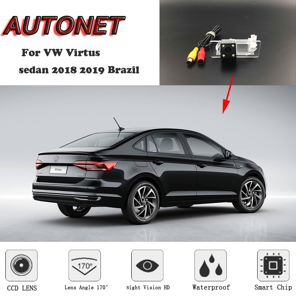 AUTONET Backup Rear View camera  For VW Virtus sedan 2018 2019 Brazil HD/CCD Night Vision/license plate camera