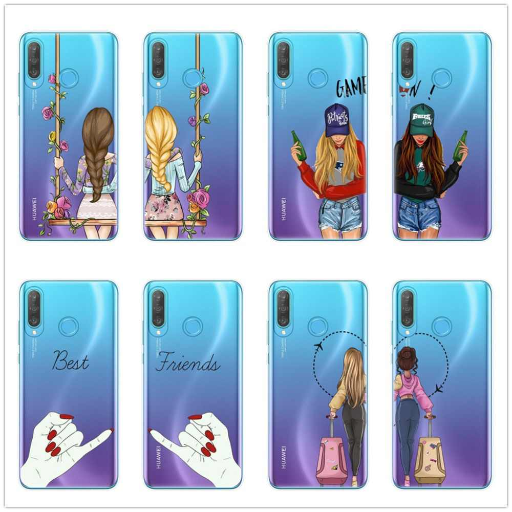 We will always be best friends BFF silicone Case For Huawei P8 P9 Lite 2017 Mate 10 20 P10 P20 P30 Pro Lite Soft TPU Phone Cover