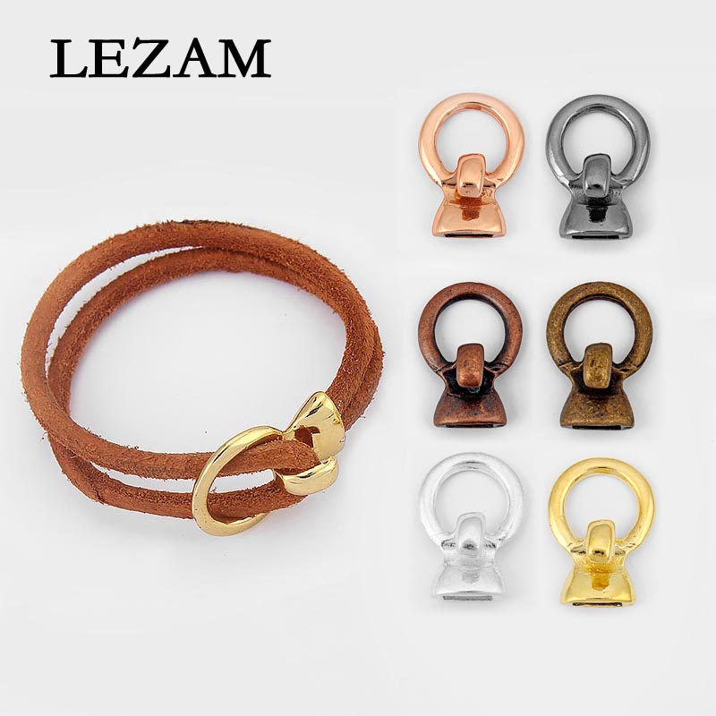 3pcs Fashion Jewelry Hook Clasp For Two Strand 5mm Round Leather Cord Diy Bracelet Jewelry Accessories Findings