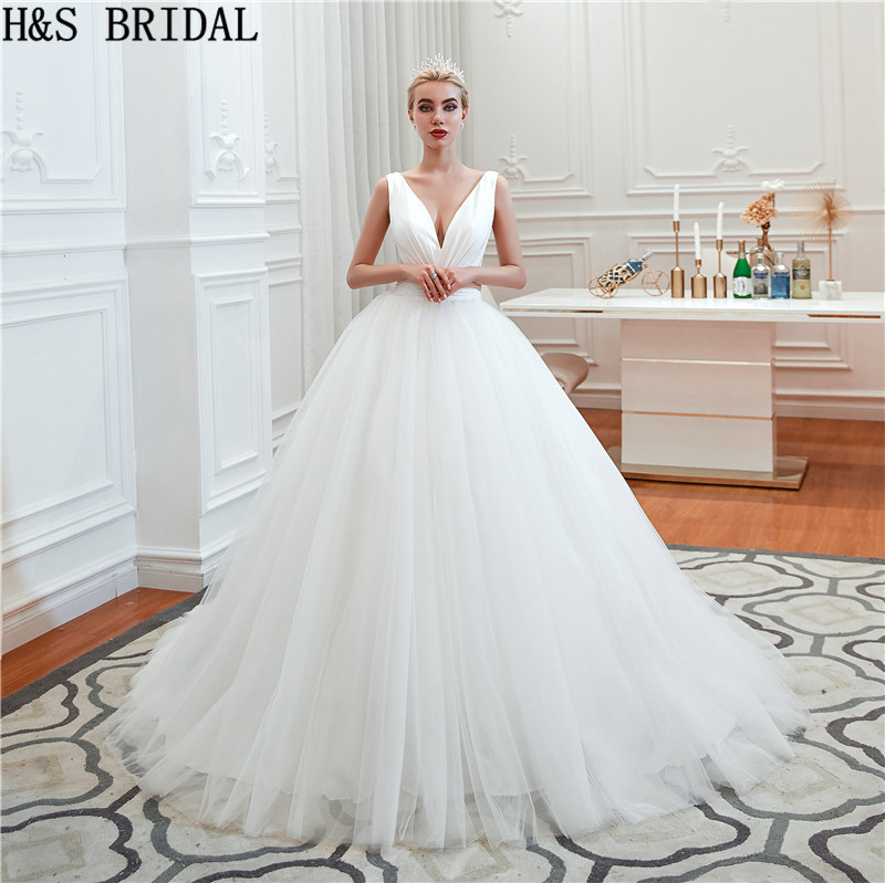 Simple Wedding Dress Divisoria: H&S BRIDAL Simple Wedding Gowns 2019 Satin Ball Gown