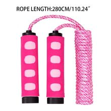 Jump Rope Hollow Rubber Foam Handle Fast Speed Polyester Cotton Skipping Lose Weight Gym Home Kids PE Supply