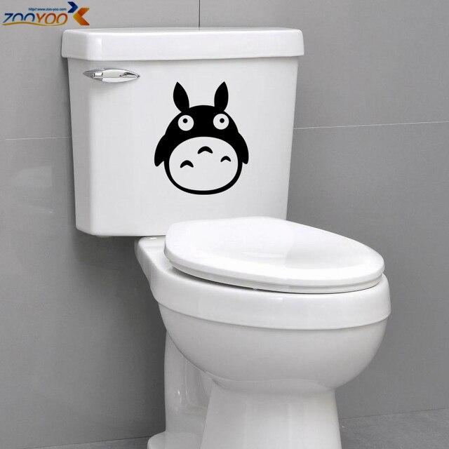 Totoro ZooYoo8301 pegatina aseo baño impermeable etiqueta del vinilo etiqueta engomada del refrigerador de dibujos animados película pegatinas nursery tatuajes de pared arte