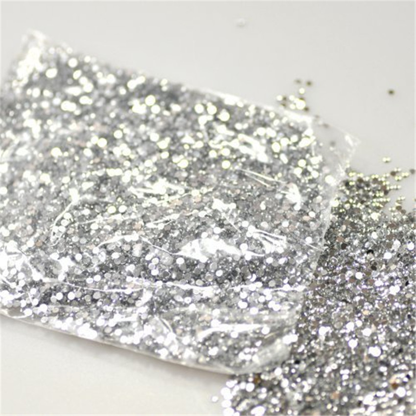 Hot 20000pcs Clear Rhinestone Decoration Crystal Glitter Nail Art 2mm