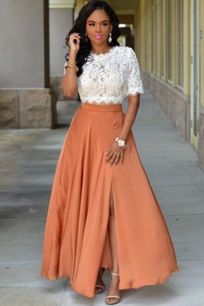 Online Get Cheap Orange Maxi Skirt -Aliexpress.com | Alibaba Group
