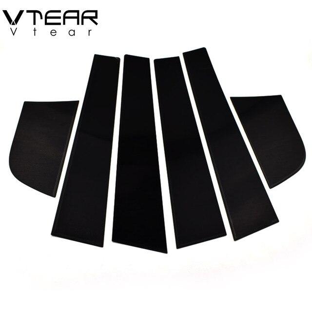 Vtear For Kia Rio 3 Rio 4 X-Line sticker window B C pillar cover Glossy black trim anti scratch Exterior car-styling accessories 5