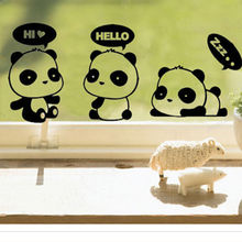 DIY Funny Cute Cat Dog panda Switch Stickers Wall Stickers Home Decoration Bedroom Window sticker Parlor Decoration L107 marbo mh l107 s