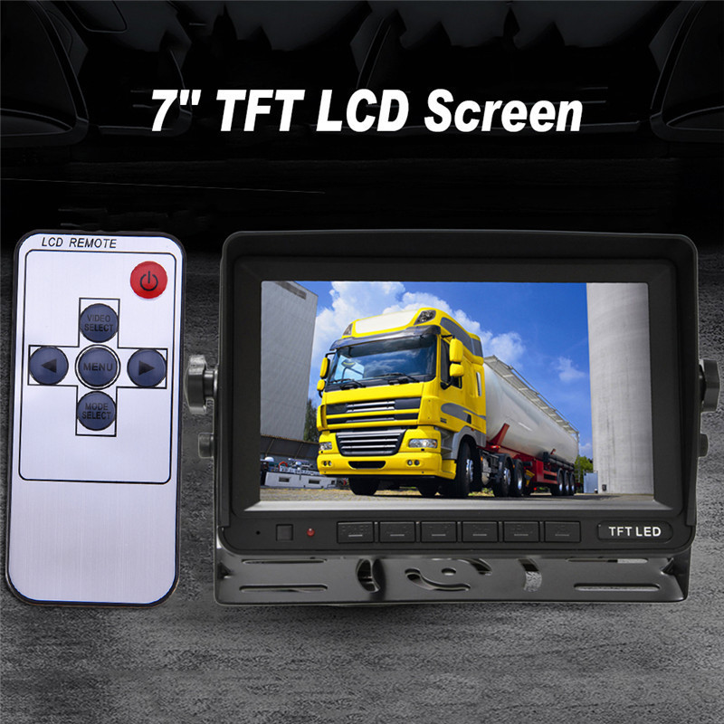7Inch Car Display Monitor 5W 2way AV1 AV2 video input LCD Digital High-definition HD DVD VCD Color Screen 12V different language