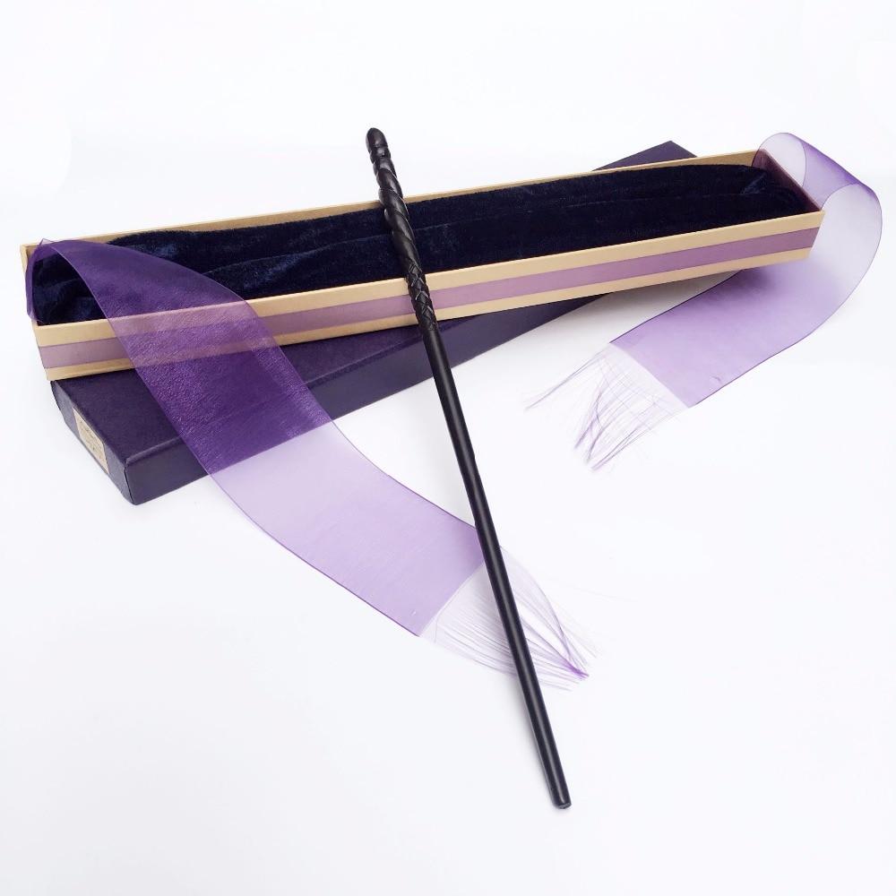 New Arrive Metal Iron Core Ginny Voldermort Wand  HP Magic Magical Wand  Elegant Ribbon Gift Box Packing