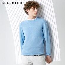 SELECTED New 100% 코튼 비즈니스 캐주얼 풀오버 니트 남성용 순수 컬러 스웨터 S