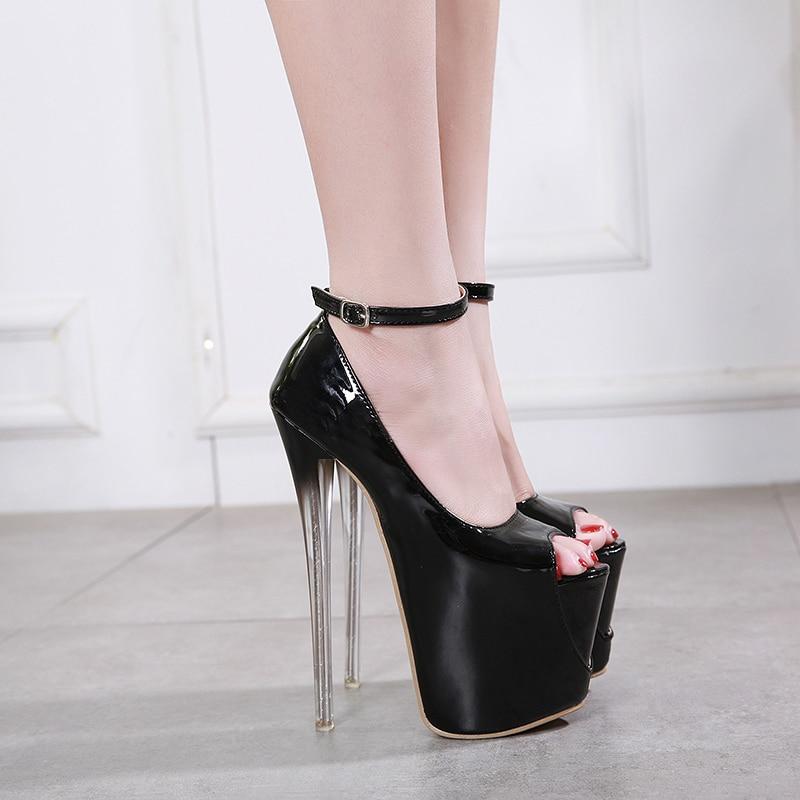 Womens Platform Stilettos High Heels Pumps Peep Toe Sandals Shoes Fashion New