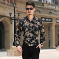 Free Shipping 2016 autumn New Fashion Casual slim fit long-sleeved men's dress shirts Leisure styles cotton shirt M-XXXL