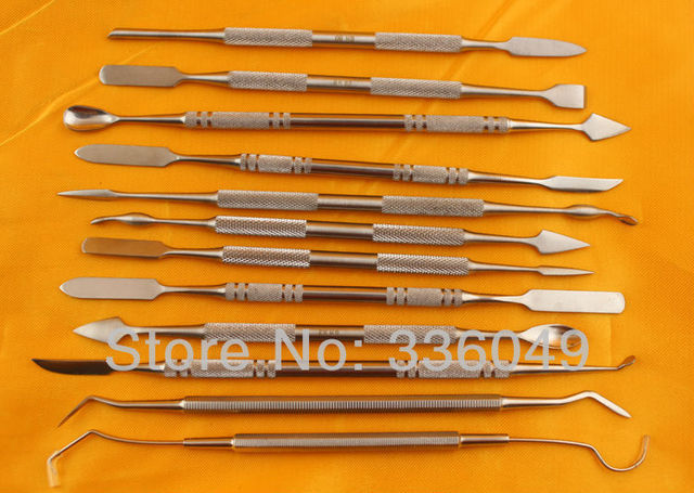 12 Pcs Metal Spatula for Wax Knife Kit Sculpture Tools Blade Dental Knife Carve Pottery Clay Carving Modeling Jewelry Equipment