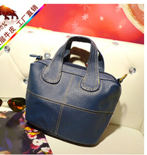 2016 autum and winter new design first layer of genuine leather women's messenger bag small cowhide handbag