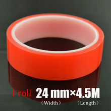 24mm*4.5m  High Strength Acrylic Gel Adhesive 2mm*4.5m Red Adhesive Tape Sticker  For Phone LCD Screen
